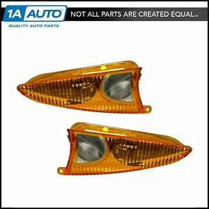 Oem Mirror Turn Signal Puddle Light Lamp Amber Pair Set Of 2 For Ford Lincoln