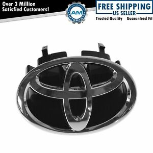 Oem Grille Mounted Chrome Black Toyota Emblem For 06 10 Toyota Sienna New