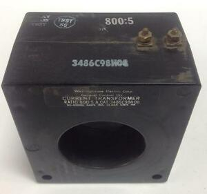Westinghouse 50 400hz 600v Current Transformer 3486c98h08