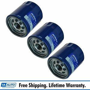 Ac Delco Pf64 Engine Oil Filter Set Of 3 For Buick Cadillac Chevy Gmc New