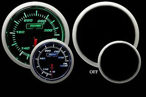 Oil Temperature Gauge Prosport Performance Series Green White 52mm New