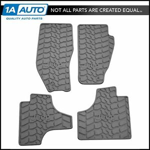 Oem Rubber Floor Mat Set Of 4 Lh Rh Front Rear Slate Gray Slush Style For Jeep