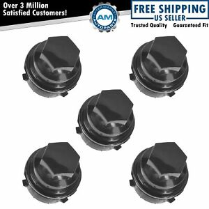Oem 9594435 Wheel Lug Nut Cap Cover Black Set Of 5 For Pontiac Chevy Buick Olds