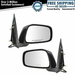 Side View Mirrors Heated Textured Pair Set For Nissan Pathfinder Xterra Frontier