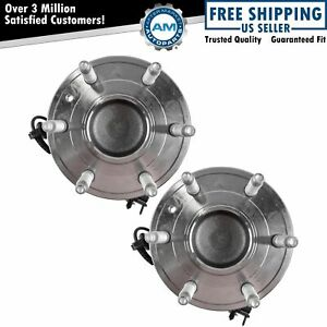Front Wheel Hubs Bearings 6 Lug Left Right Pair For Chevy Gmc 2wd 2x4