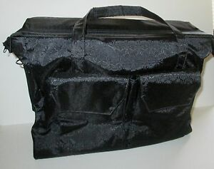 Avon Representative Large Jewelry Carry Storage Show Bag Tote Zipper Lots Pocket