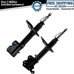 Front Shock Struts Left Right Pair Set New For Toyota Corolla Chevy Prizm