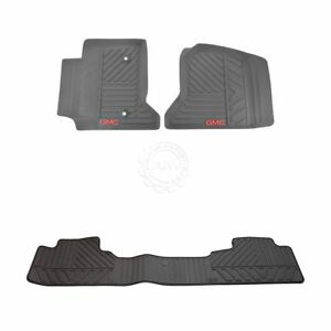 Oem Floor Mat Rubber Cocoa Front Rear Kit Set Of 3 For Gmc Pickup Truck New