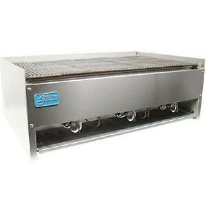 Stratus Scb 36 36 Counter Top Char Rock Broiler Grill Commercial Stainless New