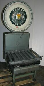 Vintage Toledo Industrial Platform Scale 125 Lbs Model 2071 Steam Punk Nice