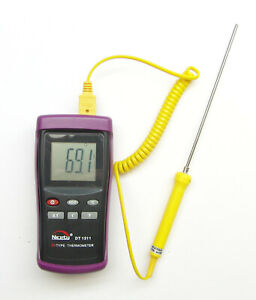 Digital Scientifc Thermometer K type Thermocouple 6 Stainless Steel Dt1311 3y