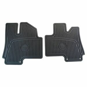 Oem Floor Mats Cadillac Crest Logoed Front Ebony Molded Rubber Pair For Srx New