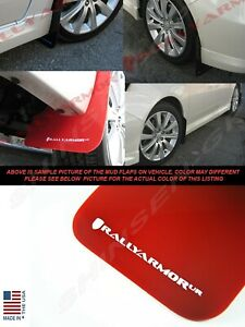 Rally Armor Ur Red Mud Flaps W White Logo For 2008 2011 Impreza And 08 10 Wrx