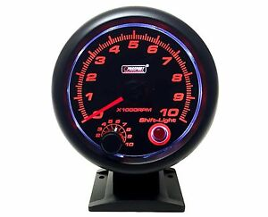 Tachometer 3 3 4 With Shift Light prosport 0 10 000 Rpm 343sarta