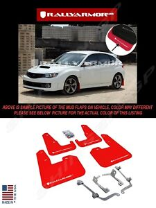 Rally Armor Red Mud Flaps W White Logo For 08 14 Sti Hb 11 14 Wrx Hatchback