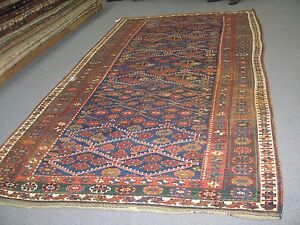 Antique Persian Kurdish Kurd Kazak Gallery Rug 6 X11 Hand Knotted Wool Excellen