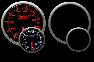 Fuel Pressure Gauge Prosport Premium Peak Recall Warning Amber White 52mm