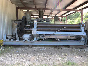 Bertsch 11 10 Ft By 1 2 Plate Roll Initial Pinch 2008 Update By Bertsch Roller