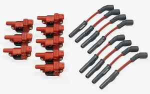 Msd Wires Red 8 Vms Pro High Output Performanc e Ignition Coil Packs Ls2 Ls3 7