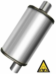 Universal Stainless Steel Straight through Perforated Performance Muffler 2 25