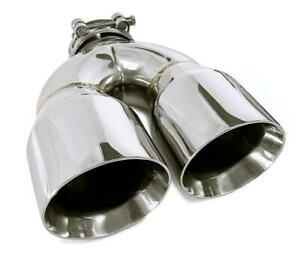 One Stainless Steel Universal Dual Exhaust Tip 3 5