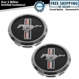 Oem Wheel Hub Center Cap Cover Pair W Pony Logo For 05 10 Ford Mustang New