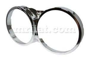Fiat Dino 2000 2400 Chrome Headlight Frame Inner Ring Levelled New