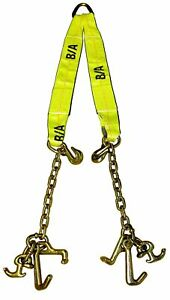 Adjustable 3 Ply V Strap W Clusters 30 Tow Truck Wrecker Mini J T And R Hooks