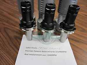3pcs Cat40 er20 4 Collet Chucks Balanced To G6 3 15000rpm Tool Holder Set