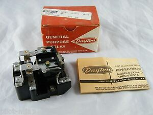 New Dayton General Purpose Relay Part 5x848a Dpdt 240v 60 Hz