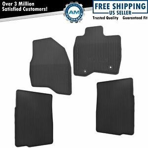 Oem Black Rubber All Weather Floor Mats With Explorer Logo Kit Set Of 4 For Ford