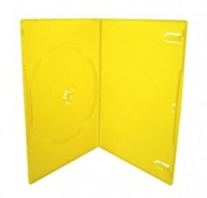 100 Slim Solid Yellow Color Single Dvd Cases 7mm