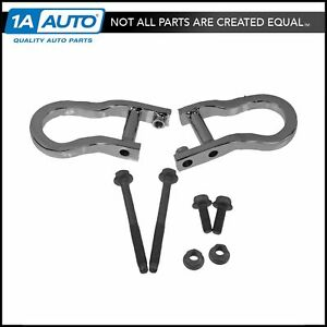 Oem Front Bumper Chrome Tow Hook Package Kit Pair For Chevy Gmc Pickup Truck