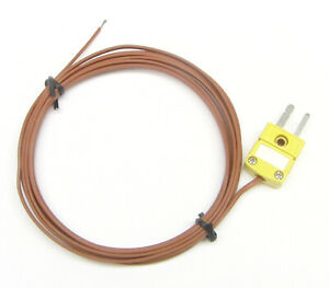 K type Thermocouple Wire For Digital Thermometer High Temperature Sensor Pk1 8ft
