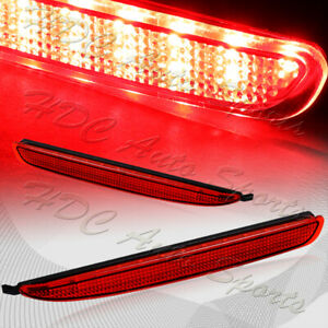 For 2003 2008 Mazda 6 Red Lens Led Rear Bumper Reflector Brake Stop Light Lamps
