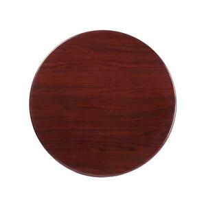 30 Round Resin Mahogany Restaurant Dining Table Top