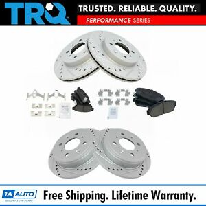 Nakamoto Rotor Brake Pad Ceramic Performance Drilled Slotted Front Rear Kit