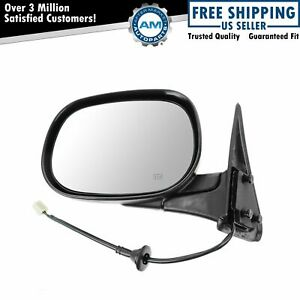 Black Heated Folding Power Mirror Lh Left Driver Side For Dodge Ram Pickup Truck