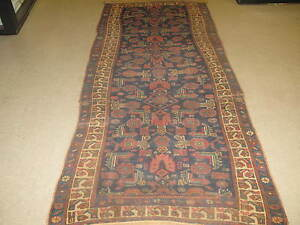 Antique Lori Kurd Hand Knotted Wool Rug Runner 4 1 X 9 3 Repairman S Dream