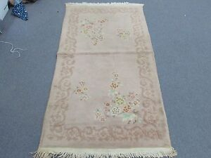 Vintage Art Deco Chinese Rug 3 X 5 10 Hand Knotted Wool
