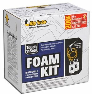 Touch N Seal U2 200 Fire Retardant Closed Cell Spray Foam Insulation Kit 200 Bf