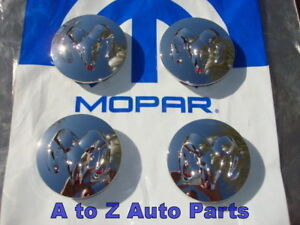 New Dodge Ram Dakota Durango Chrome Wheel Center Caps oem Mopar