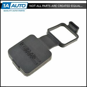 Oem Trailer Hitch Receiver Plug Cover Gmc Logo 2 Black Molded Rubber For Gmc