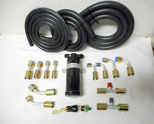 Air Conditioning A C Hose Kit Flare Fittings Flare Drier Binary Switch Hot Rod