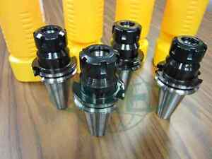 Cat40 er25 Collet Chuck W 2 76 Gage Length 4 Chucks new Tool Holder Set