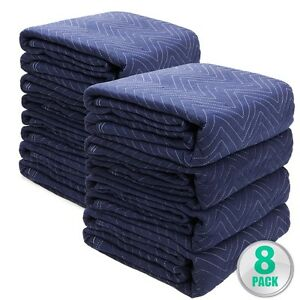 Moving Blankets Set Of 8 72 X 80 Furniture Pads Warehouse 5lbs Heavy Duty