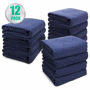 Moving Blankets Set Of 12 72 X 80 Furniture Pads Warehouse 5lbs Heavy Duty