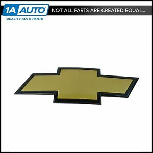 Oem 22829420 Grille Bowtie Emblem Gold With Black Edge For Chevy Pickup Truck