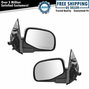 Black Power Mirrors Pair For Mountaineer Ford Explorer