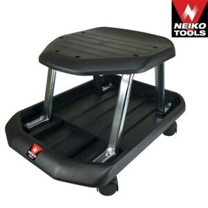 440 Pound Rolling Shop Seat Mechanic W Tool Tray Garage Shop Automotive Tools